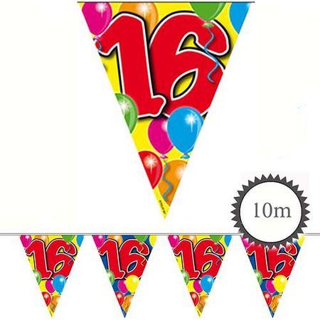 Wimpelkette Ballons 16 Geburtstag 10m