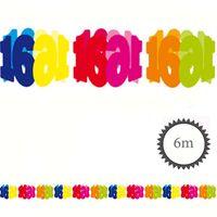 Papier Girlande 16 Geburtstag 6m