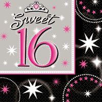 Serviette Sweet 16 Glitzer 16 Stk Bild 2