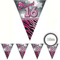Wimpelkette Sweet 16 10m