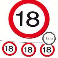 Wimpelkette Verkehrsschild 18 Geburtstag 12m