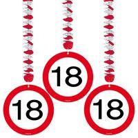 Hängespirale Verkehrsschild 18 Geburtstag 3 Stk. Bild 2