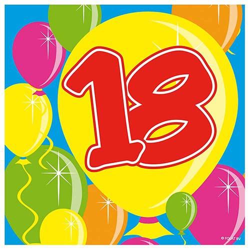 servietten ballons 18 geburtstag 20 stk partydeko geburtstage erwachsene 18 100 18 geburtstag. Black Bedroom Furniture Sets. Home Design Ideas