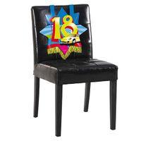 Stuhlverzierung Swirl 18 Geburtstag