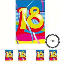 Mini Wimpelkette Swirl 18 Geburtstag 4m Bild 2