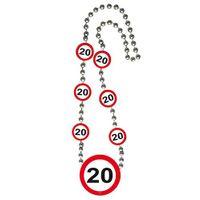 Halskette Verkehrsschild 20 Geburtstag