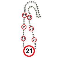 Halskette Verkehrsschild 21 Geburtstag  Bild 2