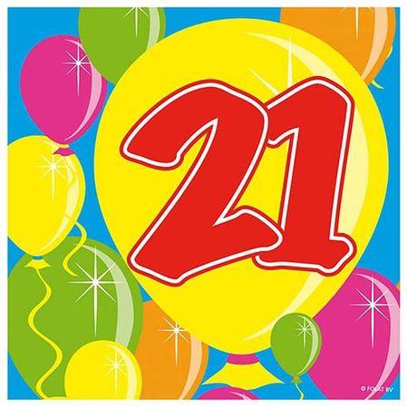 Servietten Ballons 21 Geburtstag 20 Stk.
