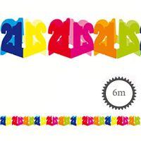 Papier Girlande 21 Geburtstag 6m