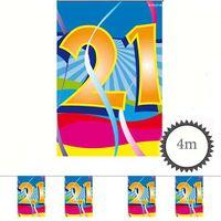Mini Wimpelkette Swirl 21 Geburtstag 4m