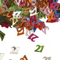 Konfetti Zahlenkonfetti 21 Geburtstag 15g