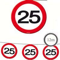 Wimpelkette Verkehrsschild 25 Geburtstag 12m Bild 2
