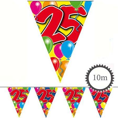 Wimpelkette Ballons 25 Geburtstag 10m