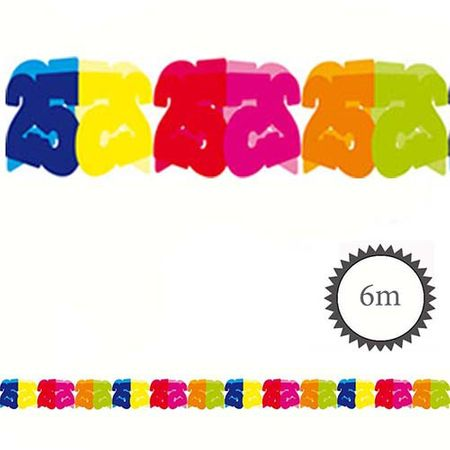 Papier Girlande 25 Geburtstag 6m