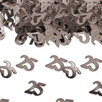 Konfetti Zahlenkonfetti 25 15g silber Bild 2