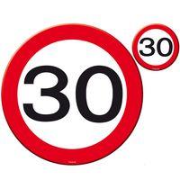 Tisch-Set Verkehrsschild 30 Geburtstag 8 teilig