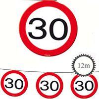 Wimpelkette Verkehrsschild 30 Geburtstag 12m
