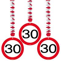 Hängespirale Verkehrsschild 30 Geburtstag 3 Stk. Bild 2