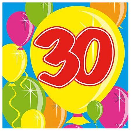 Servietten Ballons 30 Geburtstag 20 Stk.