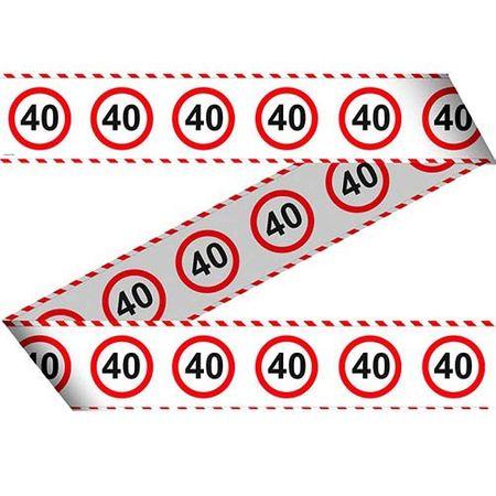 Absperrband Verkehrsschild 40 Geburtstag 15m