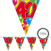 Wimpelkette Ballons 40 Geburtstag 10m