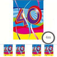 Mini Wimpelkette Swirl 40 Geburtstag 4m