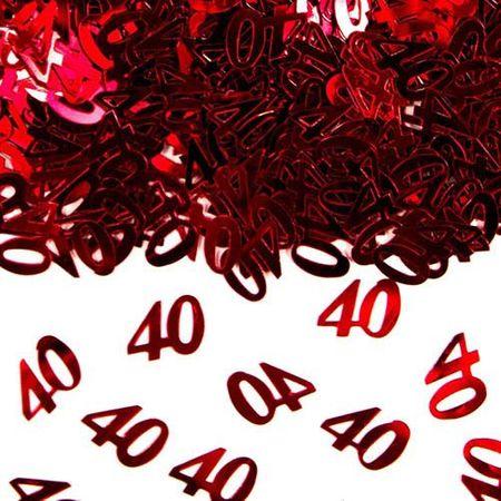 Konfetti Zahlenkonfetti 40 15g rot