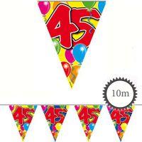 Wimpelkette Ballons 45 Geburtstag 10m