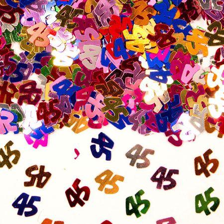Konfetti Zahlenkonfetti 45 Geburtstag 15g Partydeko Geburtstage