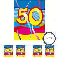 Mini Wimpelkette Swirl 50 Geburtstag 4m