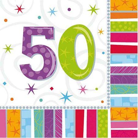 Serviette Radiant 50 Geburtstag 16 Stk.