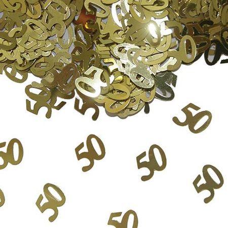 Konfetti Zahlenkonfetti 50 gold 15g