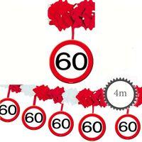 Girlande Verkehrsschild 60 Geburtstag 4m Bild 2