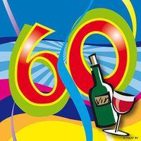 Serviette Swirl 60 Geburtstag 20 Stk.