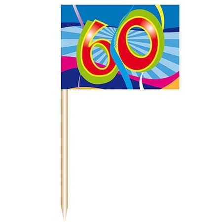 Party-Picker Swirl 60 Geburtstag 50 Stk.