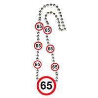 Halskette Verkehrsschild 65 Geburtstag