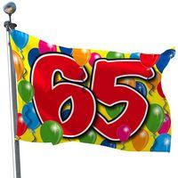 Fahne Ballons 65 Geburtstag 60 x 90 cm