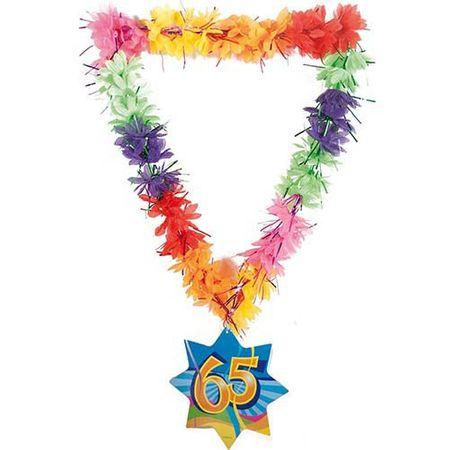 Hawaikette Swirl 65 Geburtstag 53cm