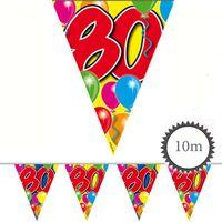Wimpelkette Ballons 80 Geburtstag 10m