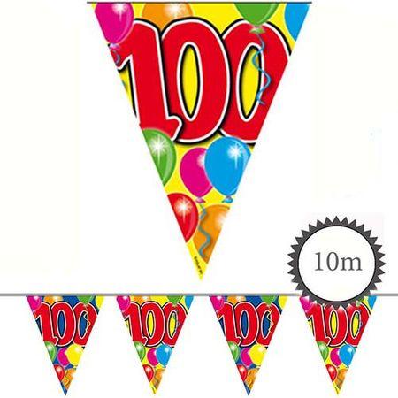 Wimpelkette Ballons 100 Geburtstag 10m