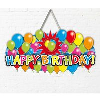 Dekoschild Ballons Happy Birthday 52cm Bild 2