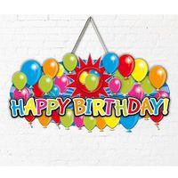 Dekoschild Ballons Happy Birthday 52cm