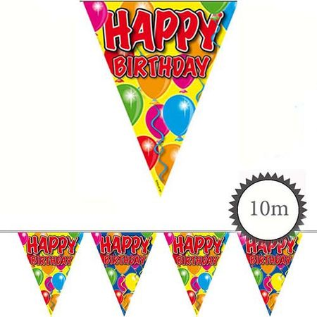 Wimpelkette Ballons Happy Birthday 10m