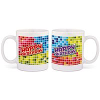 Tasse Happy Birthday Blocks Bild 2
