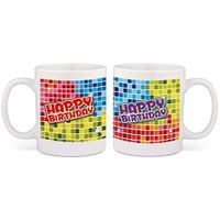 Tasse Happy Birthday Blocks Bild 1