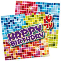 Serviette Happy Birthday Blocks 16 Stk. Bild 2