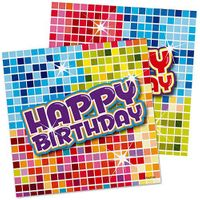 Serviette Happy Birthday Blocks 16 Stk.