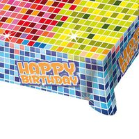 Tischdecke Happy Birthday Blocks 1,30 x 1,80 m