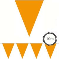 Wimpelkette orange unifarben 10m