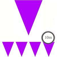 Wimpelkette lila unifarben 10m